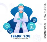 thank you for being a lifesaver ... | Shutterstock .eps vector #1757719316