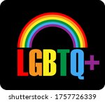 lgbtq logo with rainbow symbol  ... | Shutterstock .eps vector #1757726339