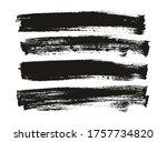 flat paint brush thin long...   Shutterstock .eps vector #1757734820