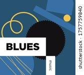 blues music playlist. vector ...