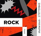 rock music playlist. vector ...