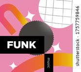 funk music playlist. vector ...