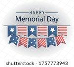 banner pennant design  happy... | Shutterstock .eps vector #1757773943