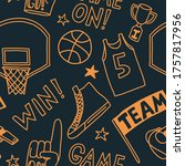 Basketball Pattern Seamless...