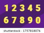 number colorful set... | Shutterstock .eps vector #1757818076