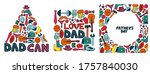 happy father's day. set of...   Shutterstock .eps vector #1757840030