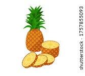 pineapple vector illustration...   Shutterstock .eps vector #1757855093