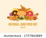 national junk food day vector....   Shutterstock .eps vector #1757863889