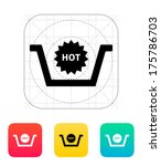 basket with hot product icon....