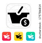 basket with price icon. vector...