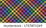 rainbow lgbt colors on black... | Shutterstock .eps vector #1757871269