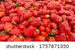 Strawberry Top View Macro Photo....