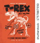 Hand Drawing T Rex Dinosaur...