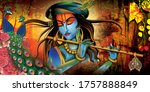 Lord Krishna With Colorful...