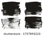 flat paint brush thin long...   Shutterstock .eps vector #1757893223