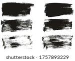 flat paint brush thin long...   Shutterstock .eps vector #1757893229