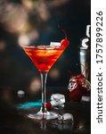Manhattan Alcoholic Cocktail...
