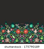seamless floral border pattern | Shutterstock .eps vector #175790189