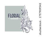 decorative floral boho card ...   Shutterstock .eps vector #1757909543