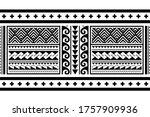 tribal ethnic polynesian... | Shutterstock .eps vector #1757909936