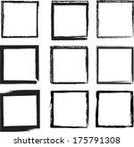 grunge frames. vector... | Shutterstock .eps vector #175791308