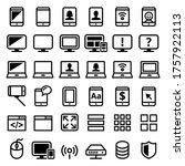 computer  smartphone  laptop... | Shutterstock .eps vector #1757922113