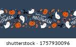 fun hand drawn halloween...   Shutterstock .eps vector #1757930096