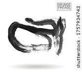 grey brush stroke and texture.... | Shutterstock .eps vector #1757934743