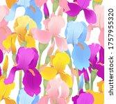 Irises Seamless Pattern....