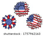 set of national flag of flowers.... | Shutterstock .eps vector #1757962163