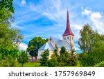Rural Church In Summer Scene