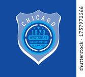 chicago illinois.vintage... | Shutterstock .eps vector #1757972366