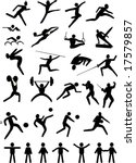 illustration with black sport... | Shutterstock .eps vector #17579857