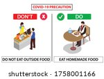 safety poster for cafeteria and ... | Shutterstock .eps vector #1758001166