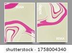 set of creative minimalist hand ...   Shutterstock .eps vector #1758004340