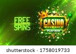 casino free spins  777 slot... | Shutterstock .eps vector #1758019733