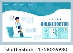 online medical service concept. ...   Shutterstock .eps vector #1758026930