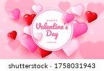 happy valentines day romance... | Shutterstock .eps vector #1758031943
