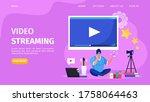 beauty online video streaming ...   Shutterstock .eps vector #1758064463