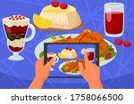 phone in hands taking mobile... | Shutterstock .eps vector #1758066500