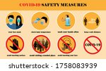 covid 19 safety measures....   Shutterstock .eps vector #1758083939