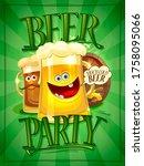 beer party poster design...   Shutterstock . vector #1758095066