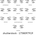 type of eyes  deep set ... | Shutterstock .eps vector #1758097919