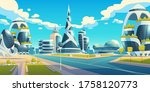 future city  futuristic glass... | Shutterstock .eps vector #1758120773