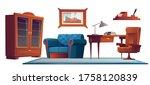 luxury office in classic...   Shutterstock .eps vector #1758120839