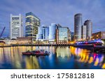 Boston, Massachusetts downtown city skyline. - stock photo