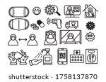 coronavirus and new normal...   Shutterstock .eps vector #1758137870