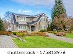 luxury house in vancouver ... | Shutterstock . vector #175813976