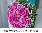 bridal bouquet  on table. | Shutterstock . vector #175814480