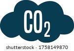 Co 2 Carbon Dioxide Cloud Sign.